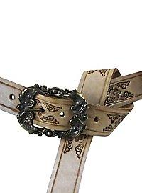 Leather Belt Musketeer brown