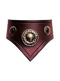 Leather Collar - Comtesse red