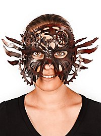 Leather mask - Clockwork brown