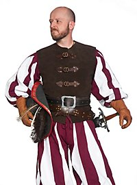 Leather vest with buckles - Fencer