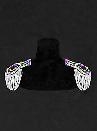 LED Epauletten silber-bunt