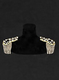LED epaulettes gold-white