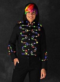 LED Jacke mit Silberborte für Damen