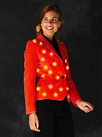 LED jacket for ladies red