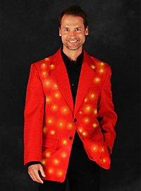 LED jacket for men red