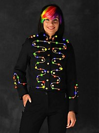 LED jacket with gold border for ladies