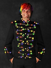 LED jacket with gold border for men