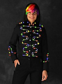 LED jacket with silver border for ladies