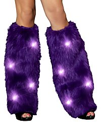 LED Leg Warmers furry violet