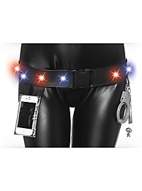 LED Police Belt with Handcuffs