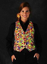 LED vest for ladies gold