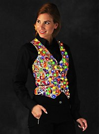 LED vest for ladies silver
