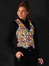 LED vest for ladies silver