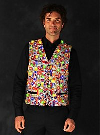 LED vest for men silver