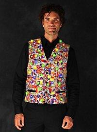 LED vest for men silver