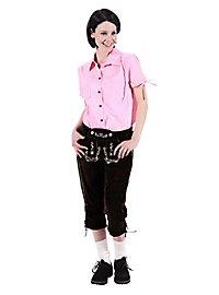 Lederhosen Women knee-length dark brown