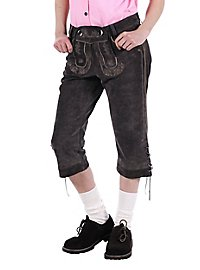 Lederhosen Women knee-length gray