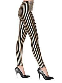 Leggings gestreift schwarz-gold