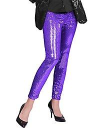 Leggings Pailletten violett