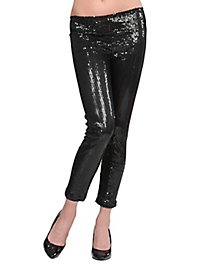 Leggings sequins black