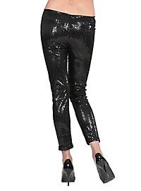 Leggings sequins black