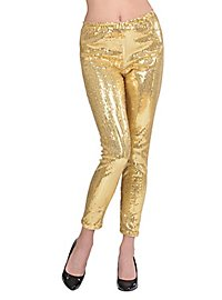 Leggings sequins gold