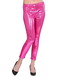 Leggings sequins pink