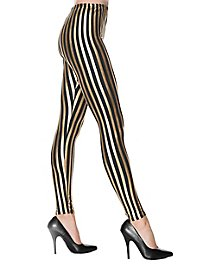 Leggings striped black-gold