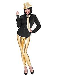 Leggings Wetlook gold