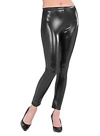 Leggings Wetlook schwarz