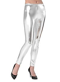Leggings wetlook silver