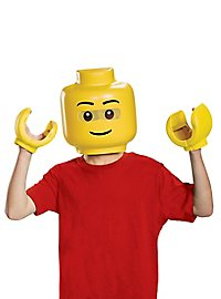 Lego figure mask and hands for children