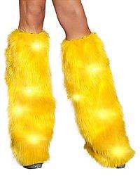 Legwarmer mit blinkenden LEDs gelb