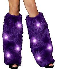 Legwarmer mit blinkenden LEDs violett