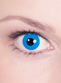 Lentille de contact correctrice bleue