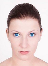 Lentille de contact correctrice bleue