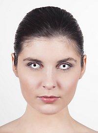 Lentille de contact correctrice œil sanglant blanc