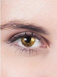 Lentilles de contact dorées
