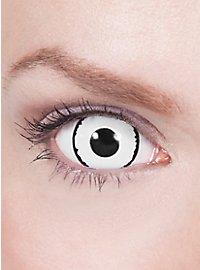 Lentilles de contact mini Sclera noir & blanc