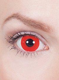 Lentilles de contact mini Sclera rouges