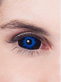 Lentilles de contact Sclera bleues