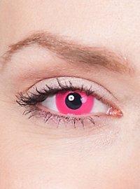 Lentilles de contact UV roses