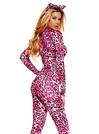 Leopard Cat Suit pink with Hair Band
