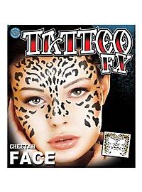 Leopard Gesicht-Klebetattoo
