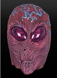 Leuchtende Alienmaske aus Latex