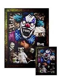 "Leuchtportrait ""Horrorclown"" medium"