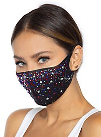 Liberty face mask with strass