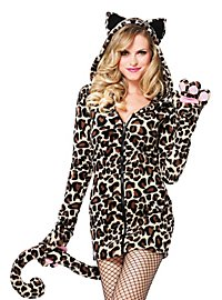 Lieblicher Leopard Hoodie Dress