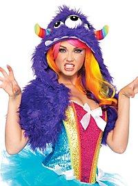 Lila Grummel-Monster Mütze
