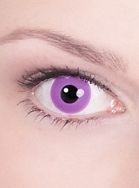 Lila Kontaktlinse mit Dioptrien